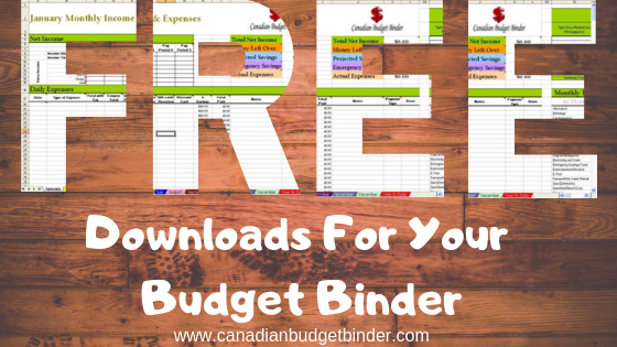 free downloads for your budget binder cover