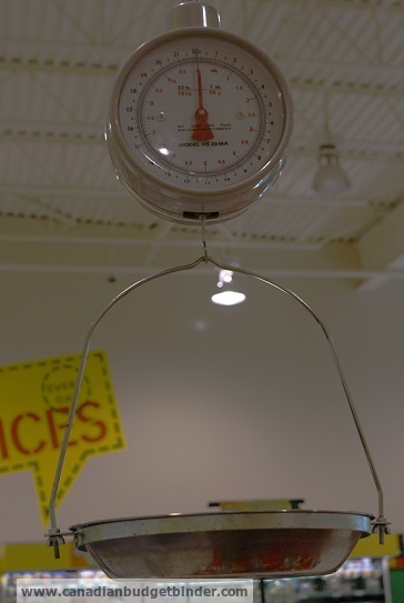 The grocery game challenge #2 Sept 9-15, 2013: Why you should use the produce scale