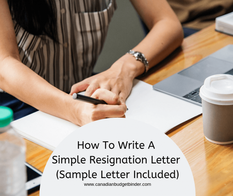 How To Write A Simple Resignation Letter (4 Sample Letters)