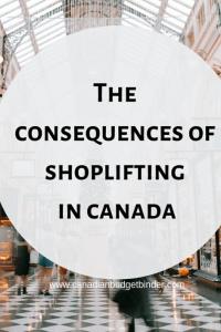 Shoplifting Canada