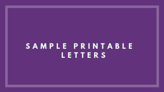 sample printable letters