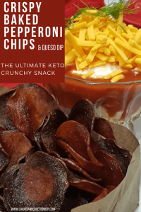 the ultimate baked pepperoni chips keto 1
