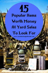 15 items worth money at yard sales to look for