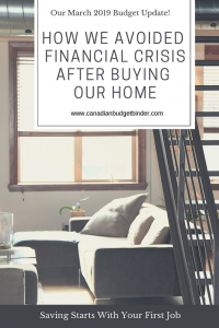 How we avoided financial crisis after buying our home