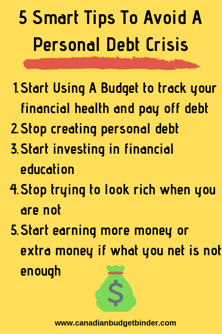 5 Smart Tips To Avoid A Personal Debt Crisis