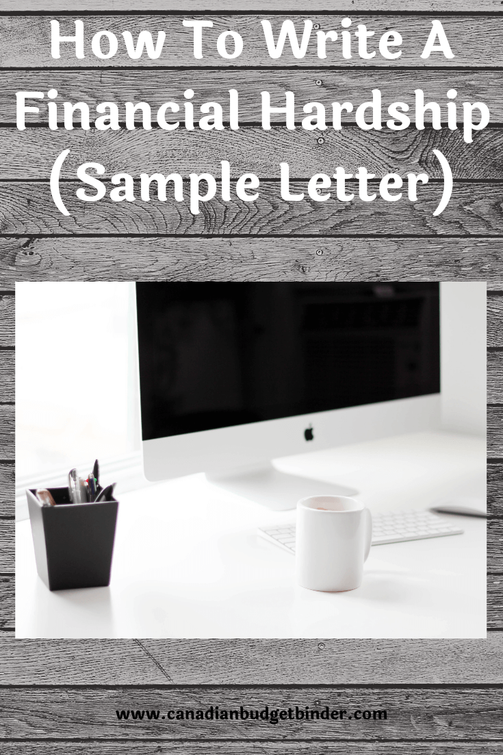 How To Write A Financial Hardship Letter (Sample Letter) : April 2019 Budget Update