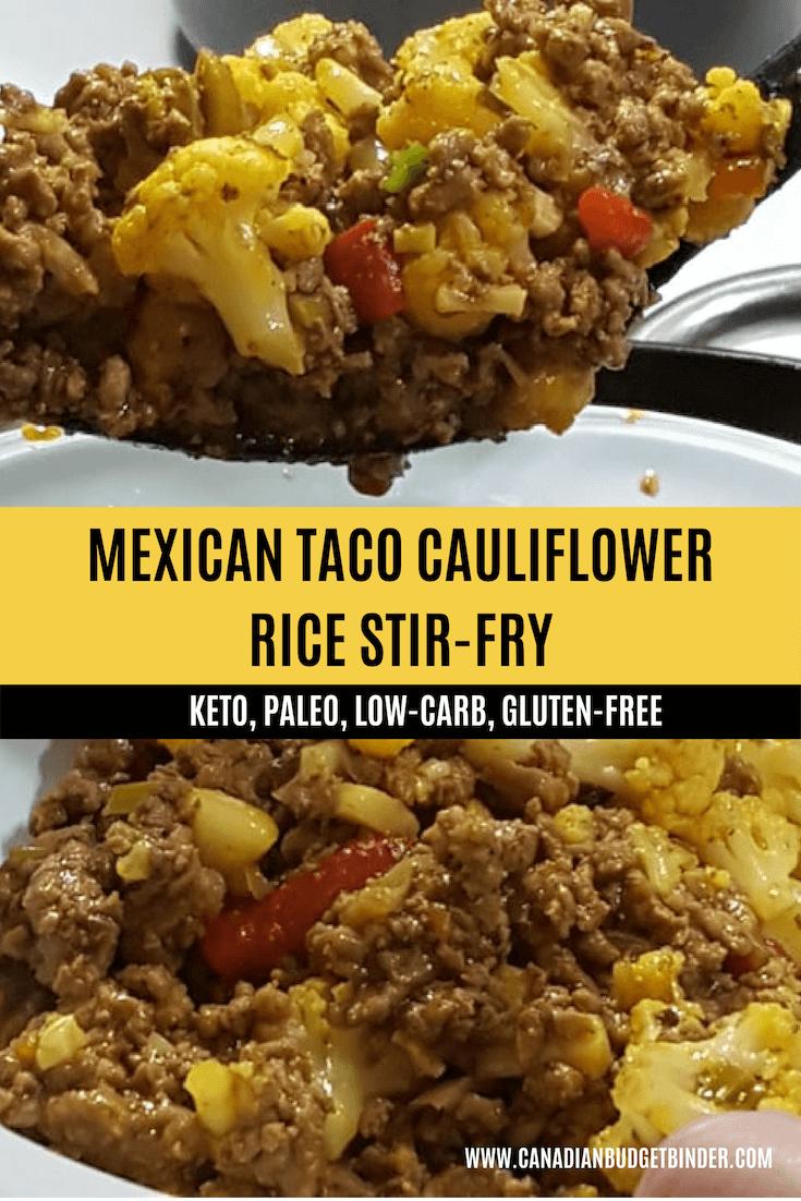 Mexican Taco Cauliflower Rice Stir-Fry 3