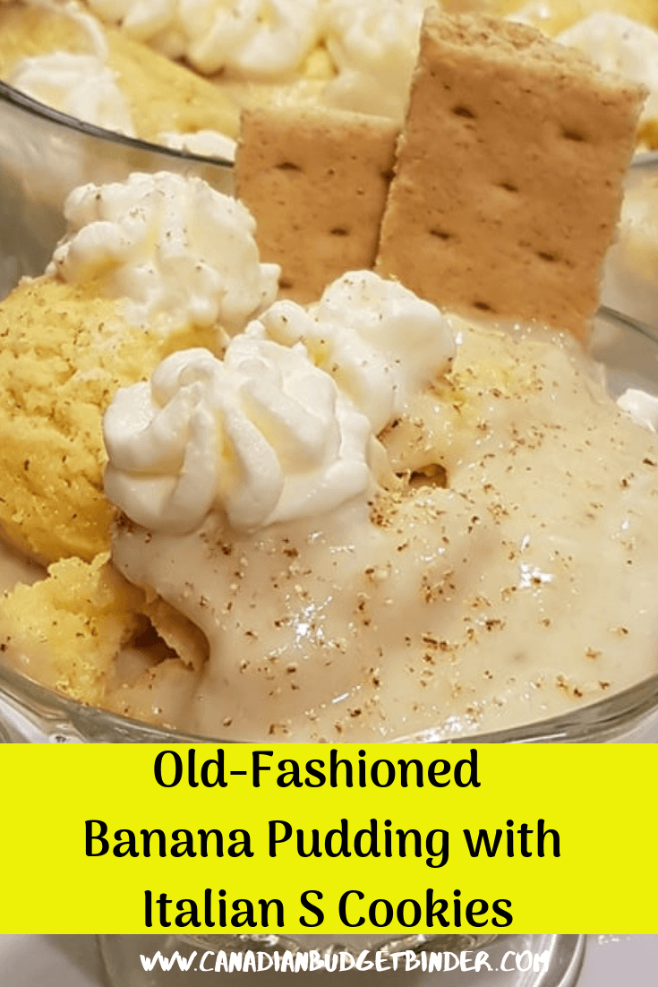 Old-Fashioned Banana Pudding With Italian S Cookies