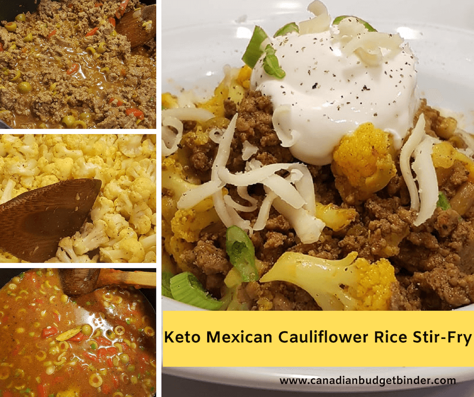 keto mexican cauliflower rice stir-fry
