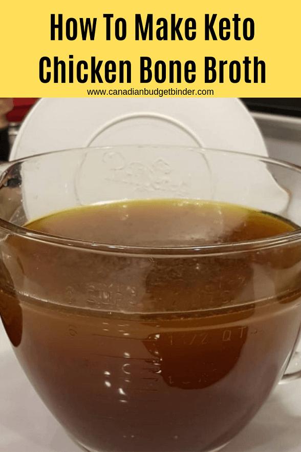 keto chicken bone broth soup