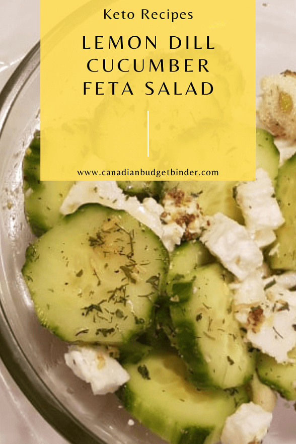 lemon dill cucumber salad with feta