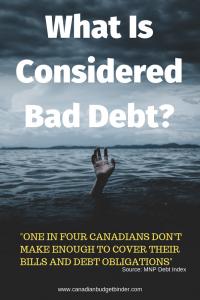 bad debt in Canada