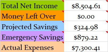 June 2019 Month Income and Expenses
