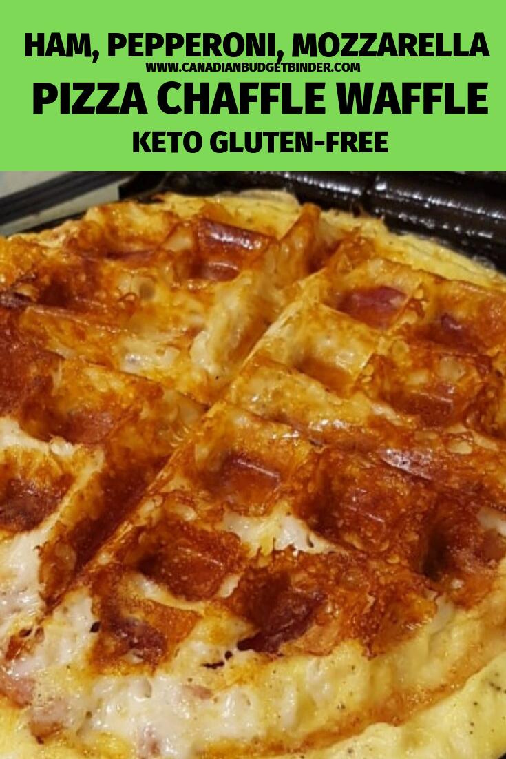 Keto Pizza Chaffle Waffles