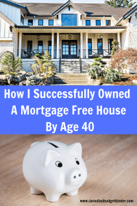 Mortgage free before 40