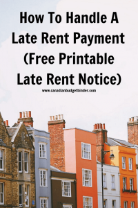 late rent payment