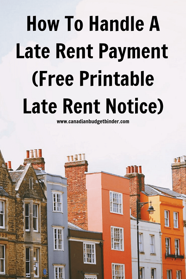 How To Handle A Late Rent Payment  (Free Printable Late Rent Notice)