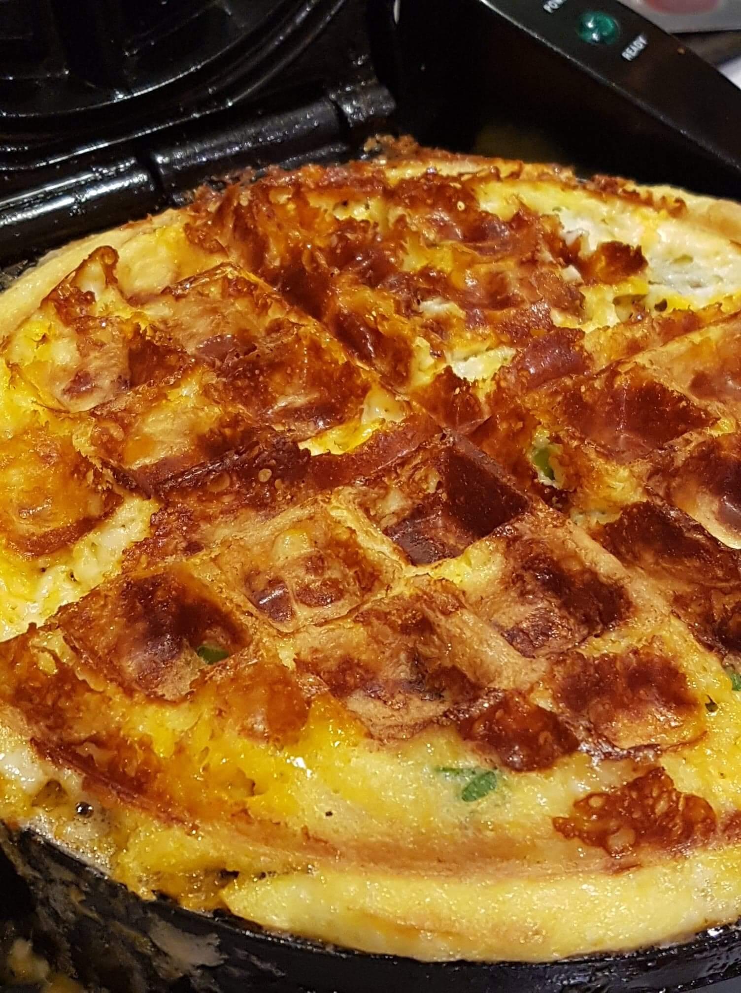 Keto Chaffle Waffles Belgian Waffle