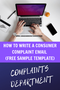 consumer complaint email