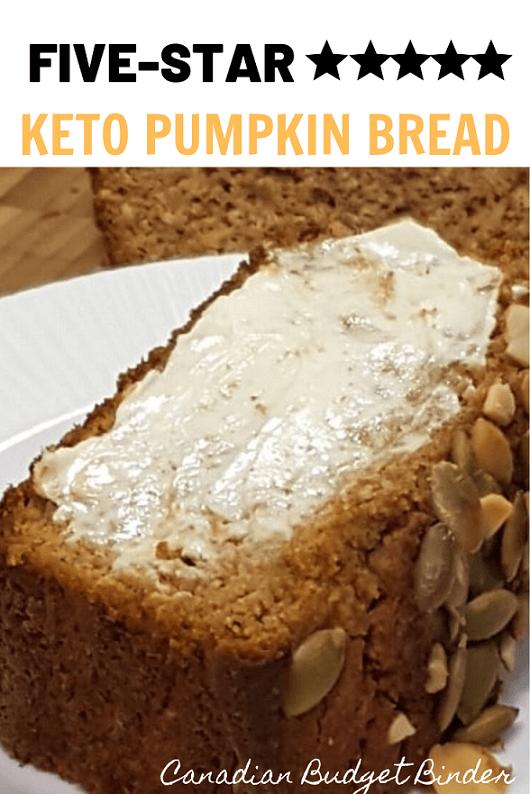 Keto Pumpkin Loaf