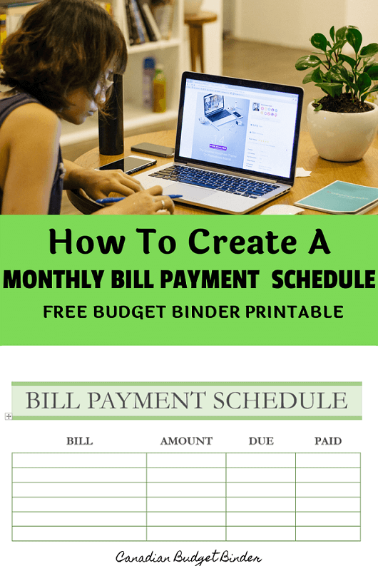 How To Create A Monthly Bill Payment Schedule (Free Printable) : Sept 2019 Budget Update