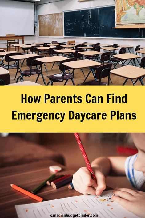 Emergency Daycare Plans