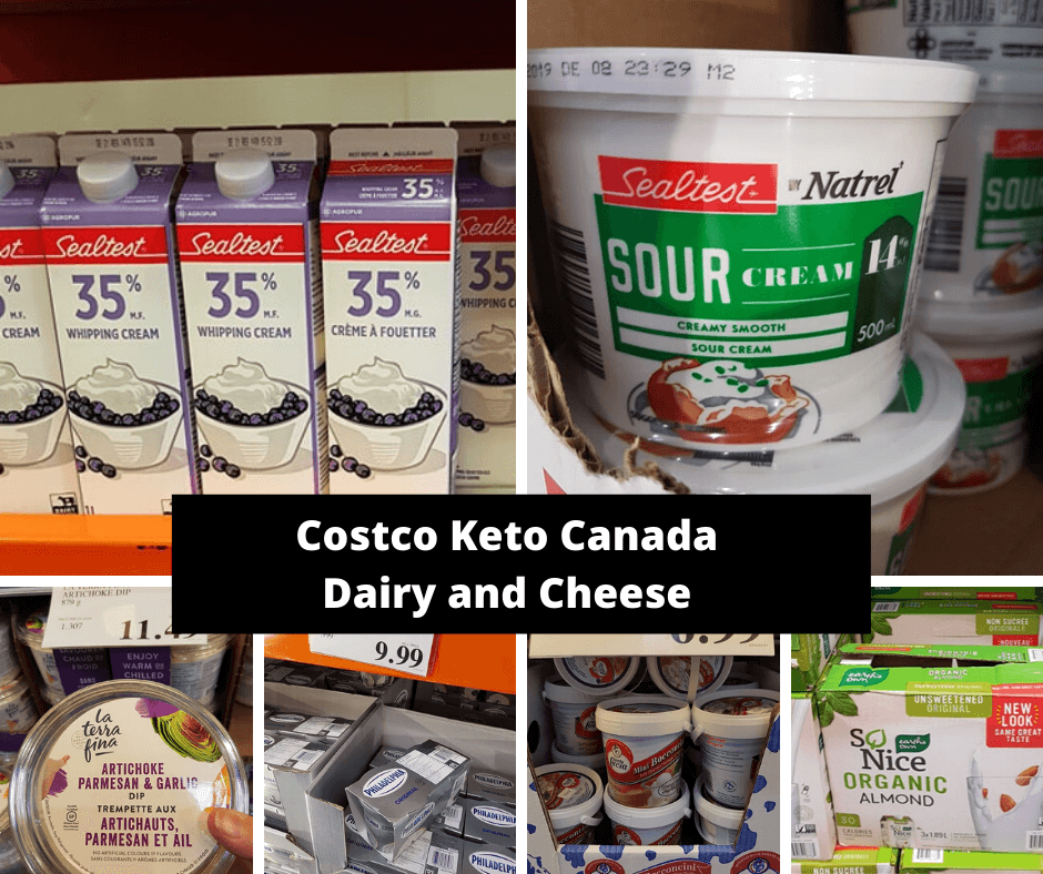 Costco Keto Canada Dairy and Cheese