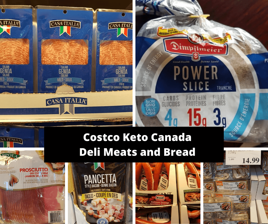 Costco Keto Canada Deli Meats and Bread
