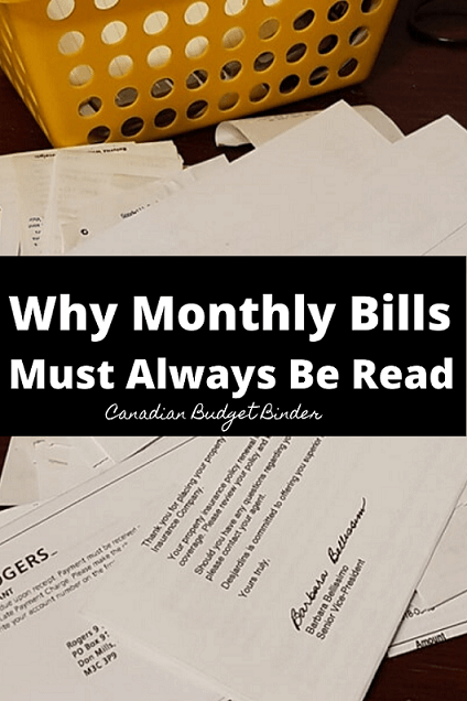 Why Your Monthly Bills Must Always Be Read