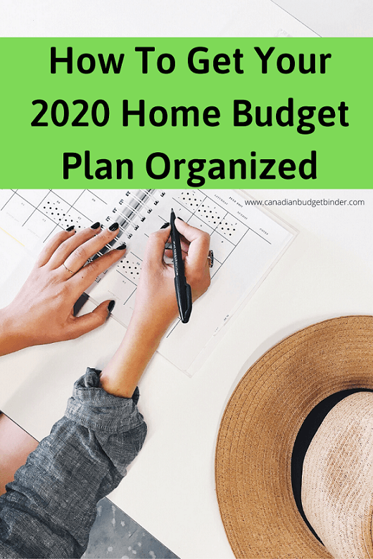 How To Get Your 2020 Home Budget Plan Organized : November 2019 Budget Update