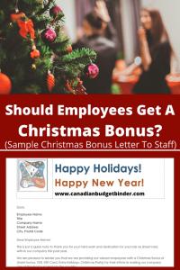 Employee Christmas Bonus