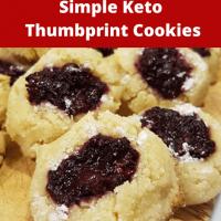Keto Thumbprint Shortbread Cookies