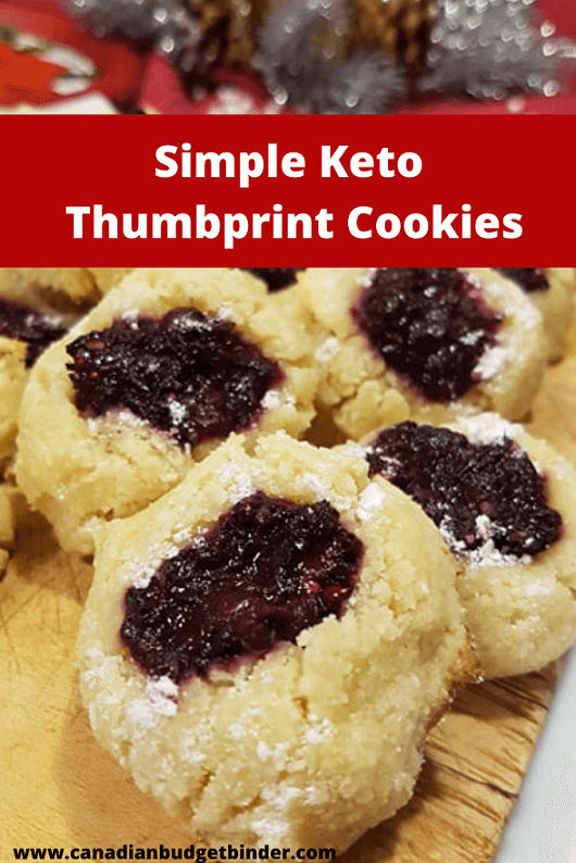 Keto Thumbprint Shortbread Cookies
