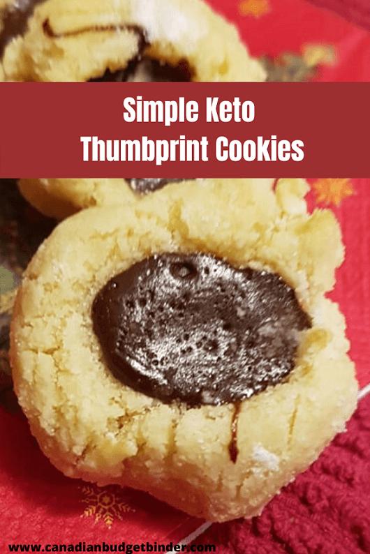 Hazelnut Chocolate Keto Thumbprint Cookies