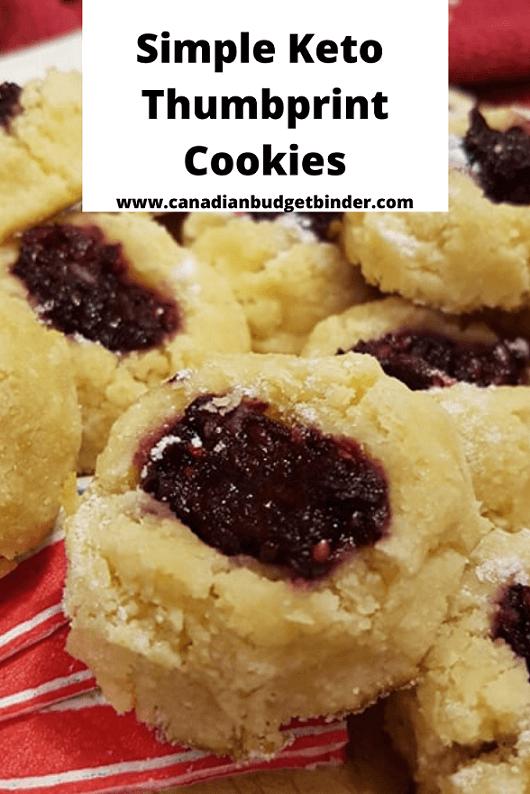 Low-Carb, Gluten-Free, Keto Thumbprint cookies
