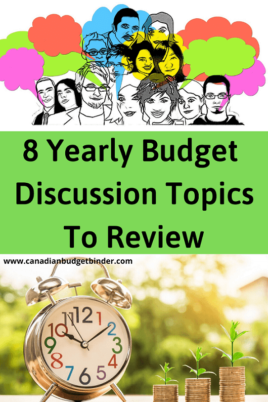 8 Yearly Budget Discussion Topics To Review : The Saturday Weekend Review #295