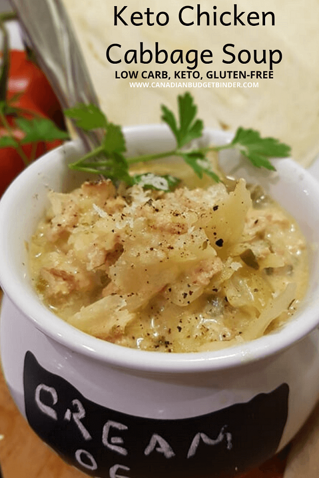 Cream of Chicken Cabbage Soup