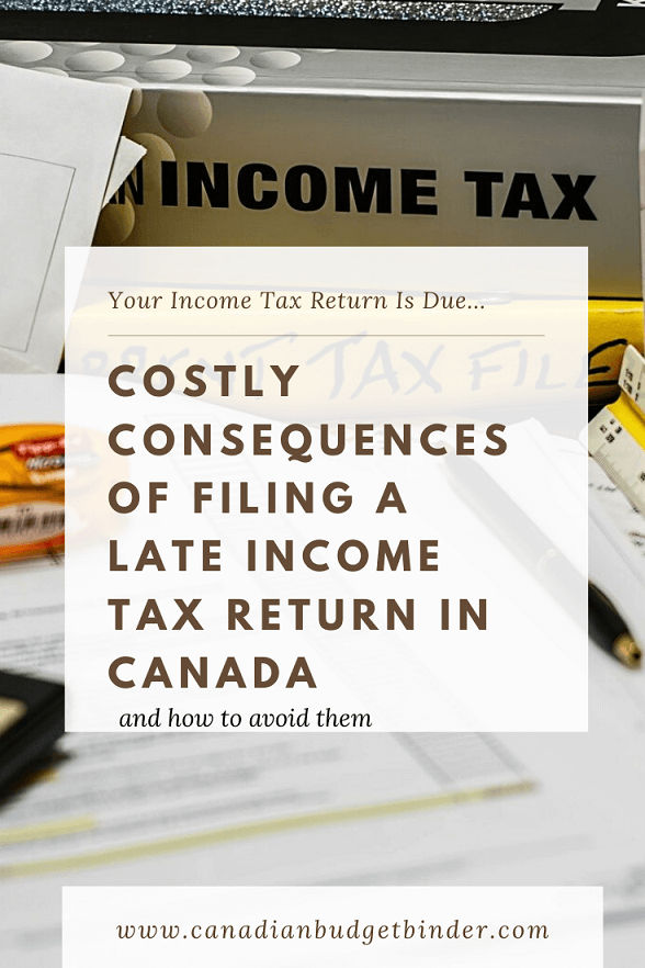 Consequences Of Filing A Late Income Tax Return