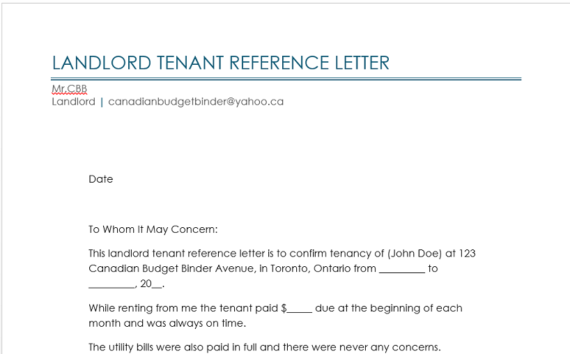 tenant reference letter sample