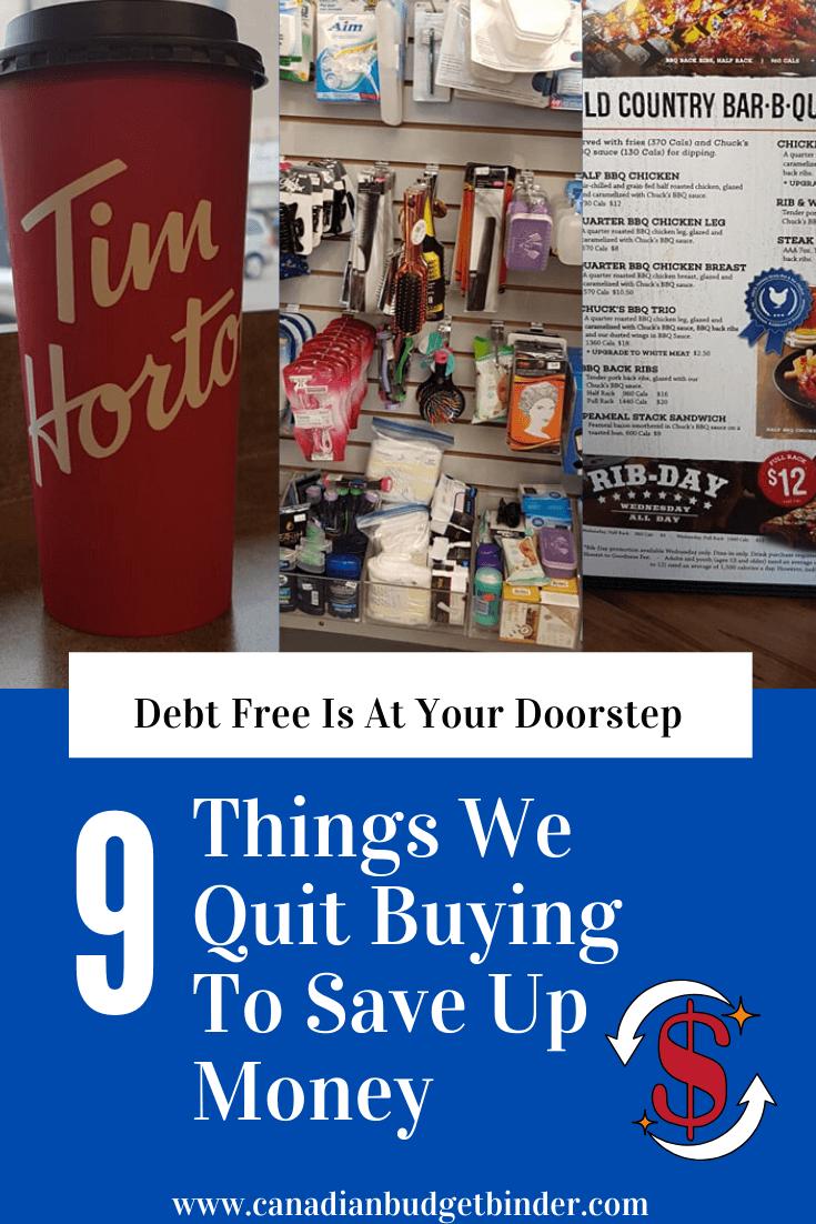Quit buying stuff