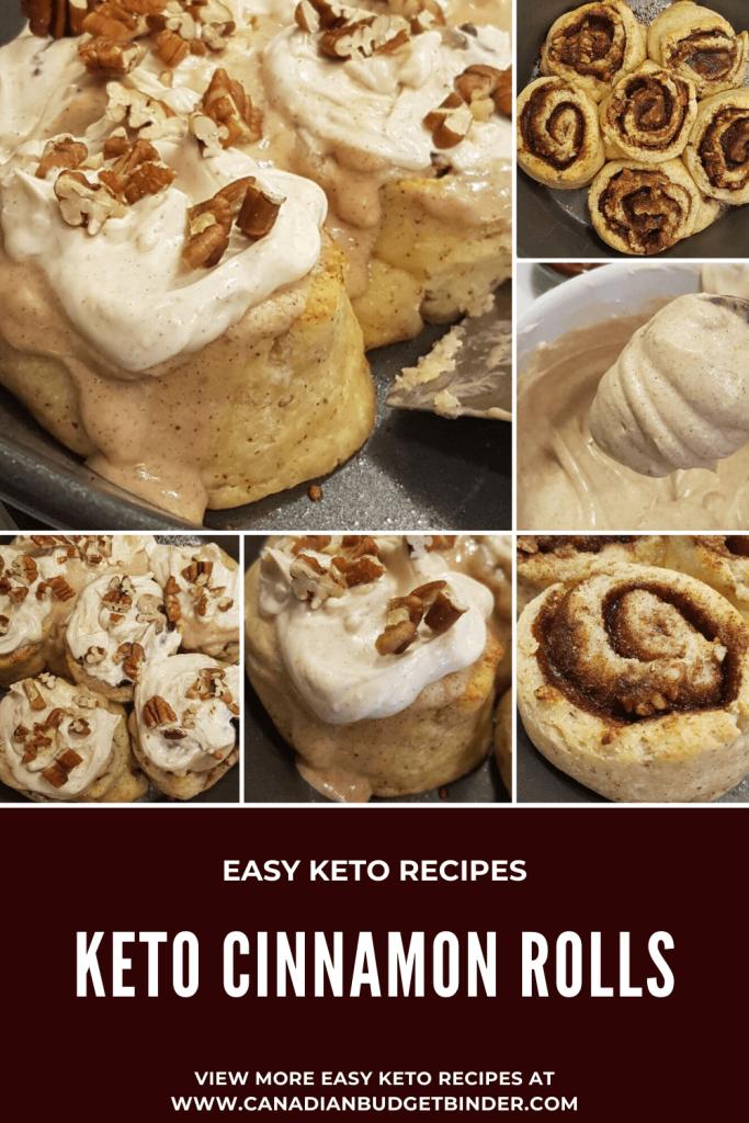 fathead frosted keto cinnamon rolls