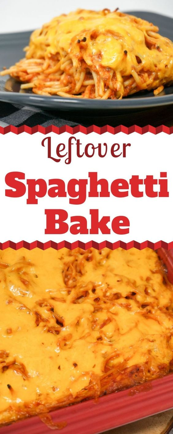 Leftover food spaghetti