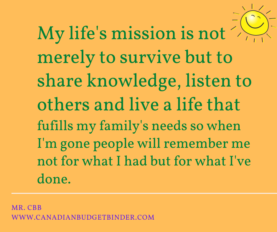Life Mission Quote