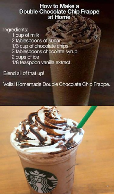 DIY Starbucks Double Chocolate Chip Frappe