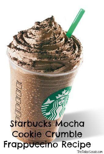 Mocha Cookie Crumble Starbucks Frapp Recipe