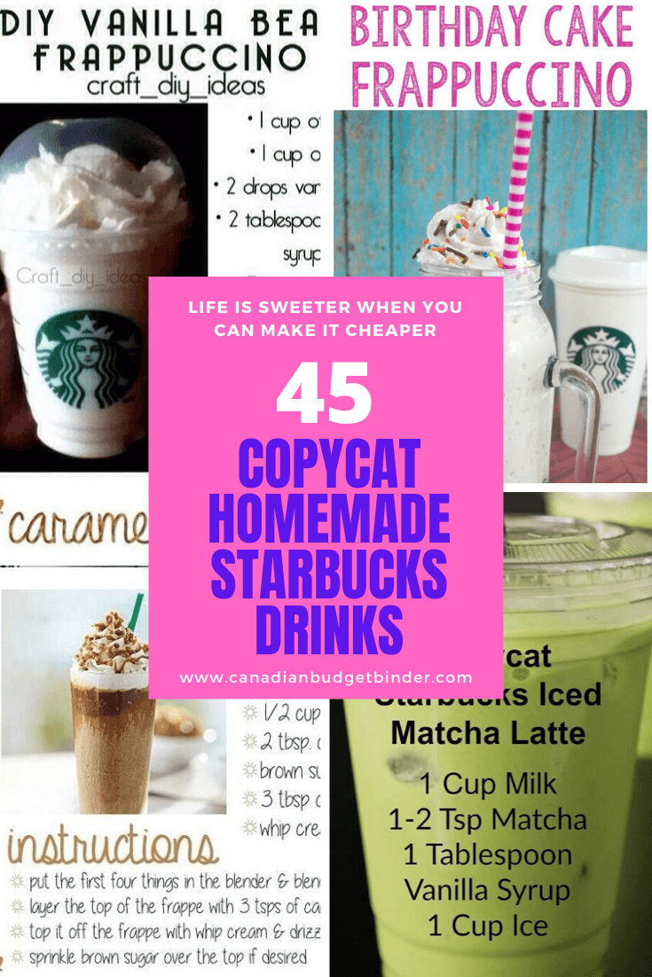 Copycat Starbucks Drinks