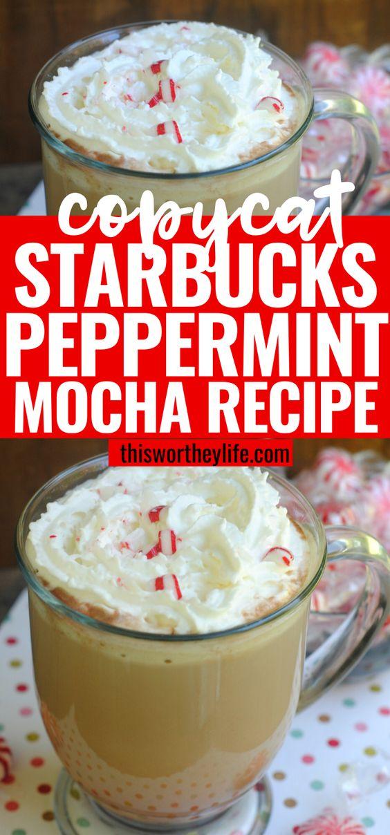Peppermint Mocha Drink Starbucks