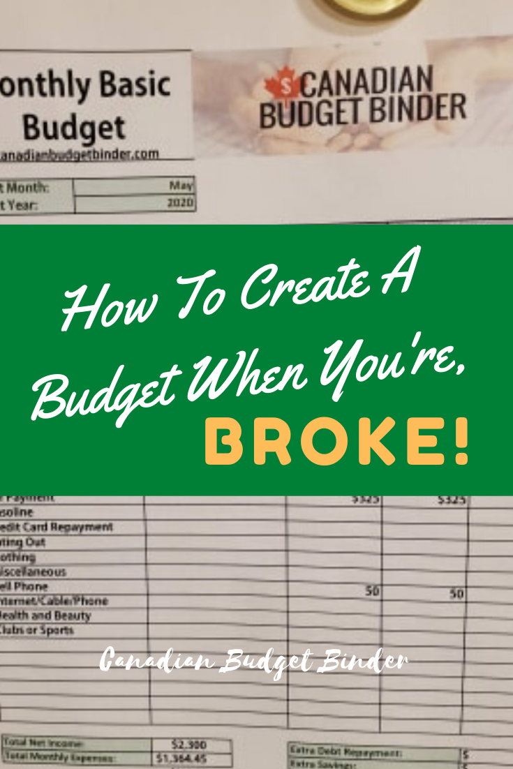 How To Create A Budget When You're Broke