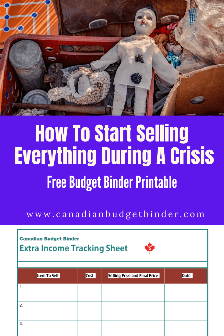 How To Start Selling Everything During A Crisis (Free Printable) : May 2020 Budget Update