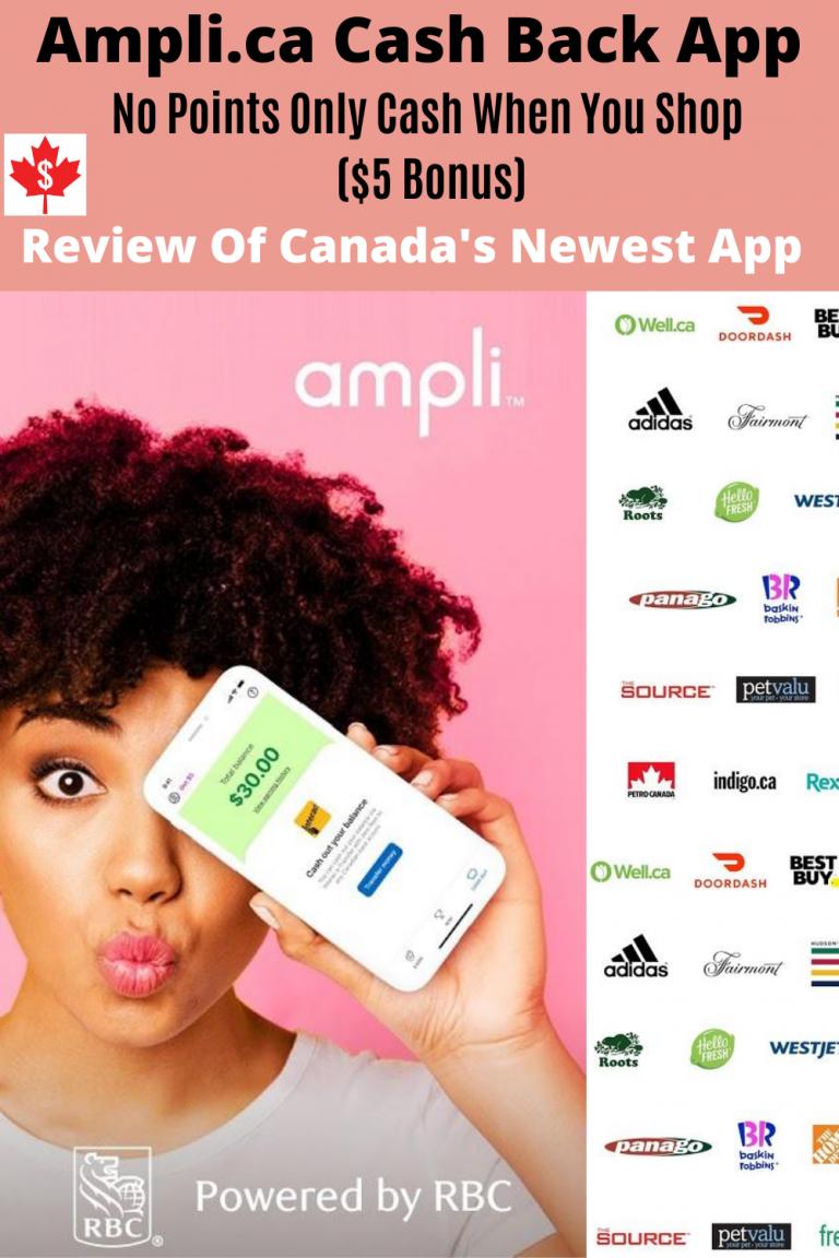 Ampli Cash Back App Review For Canadians: No Points Only Cash ($5 Bonus)